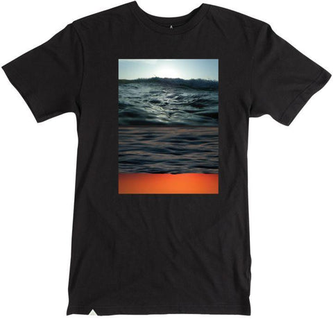 Flipped Seascape Tee (Black)