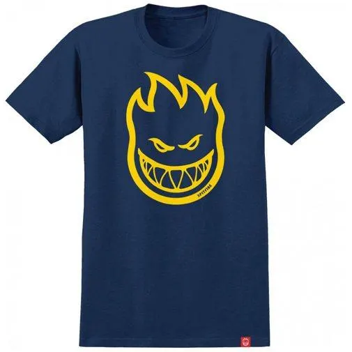 Spitfire Bighead T-Shirt (Navy/Yellow)