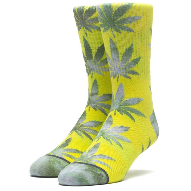 Huf Tie-Dye Leaves Plantlife Sock (Blazing Yellow)