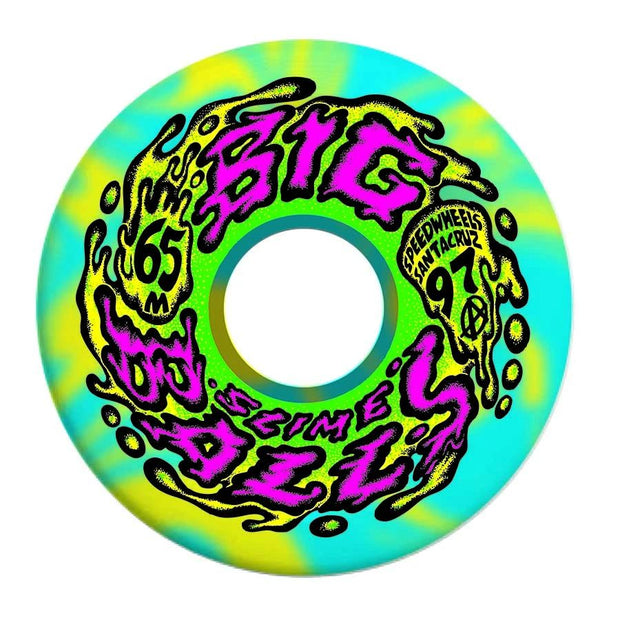 Santa Cruz Big Balls Blue Yellow Swirl 97A Wheels