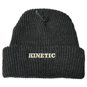 Kinetic EMB Beanie (Heather Charcoal)