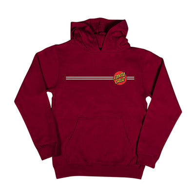 Santa Cruz Classic Dot Hooded Midweight Sweatshirt Youth (Maroon)