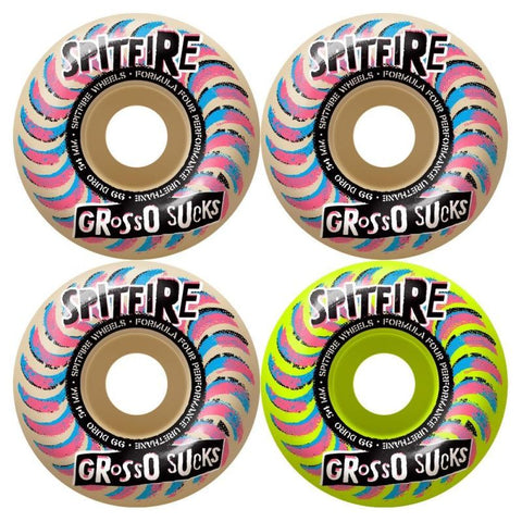 Spitfire Formula 4 99D Grosso Sucks Mashup Wheels 54MM
