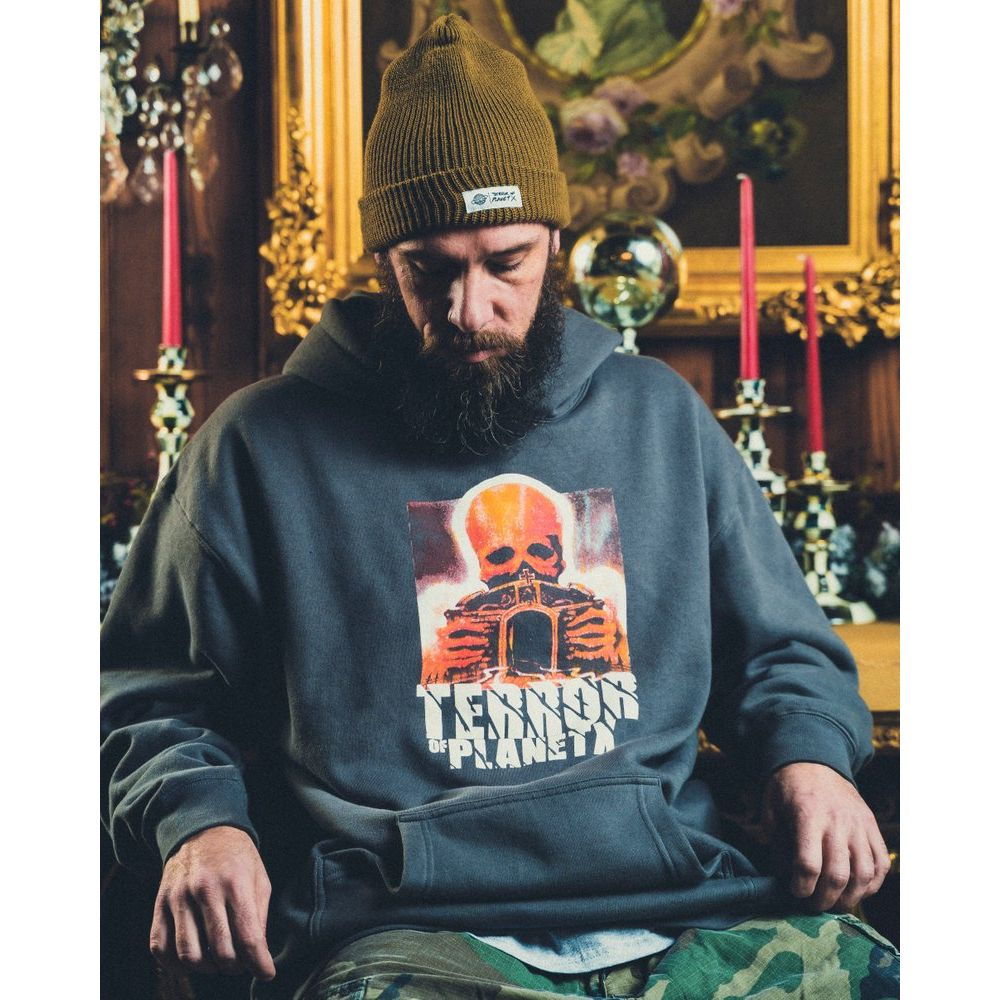 Terror of Planet X Grave Hoodie (Grey)