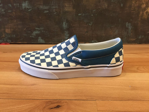 Vans Classic Slip-On (Checkerboard) Corsair/True White