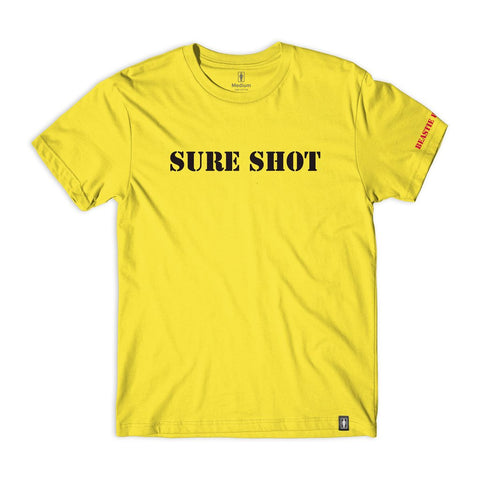 Girl x Beastie Boys Sure Shot Type T-Shirt (Yellow)