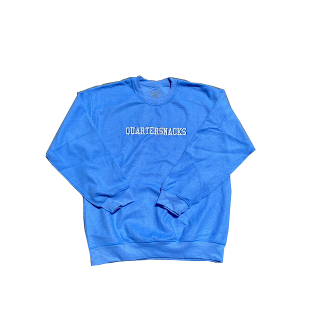 Quartersnacks Inside Out Embroidered Crew (Carolina Blue)