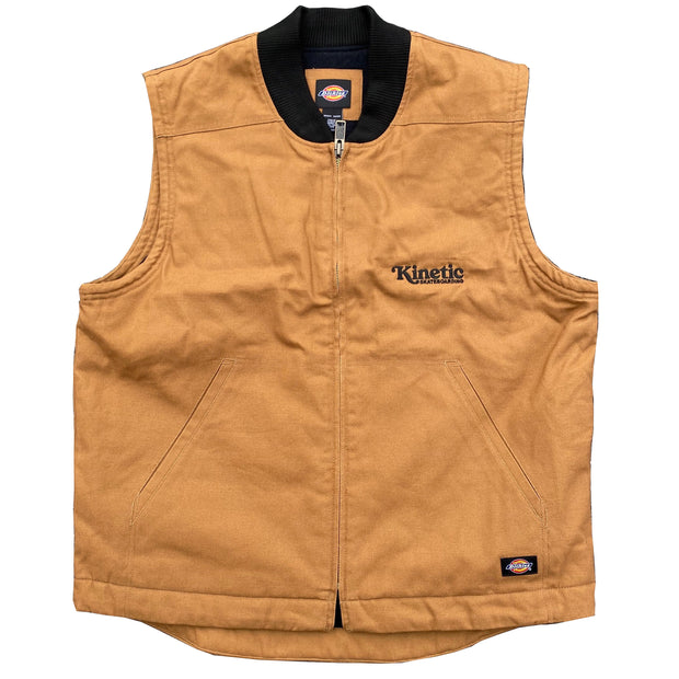 Kinetic x Dickies Quilted Vest (Brown)