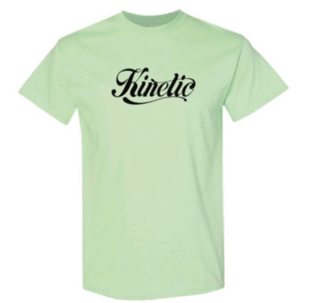 Kinetic Script Logo Youth T-Shirt (Mint/Black)