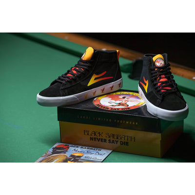 Lakai x Black Sabbath Newport Hi (Black/Gradient Suede)
