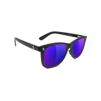Glassy Mike Mo (Matte Black/Blue Mirror)