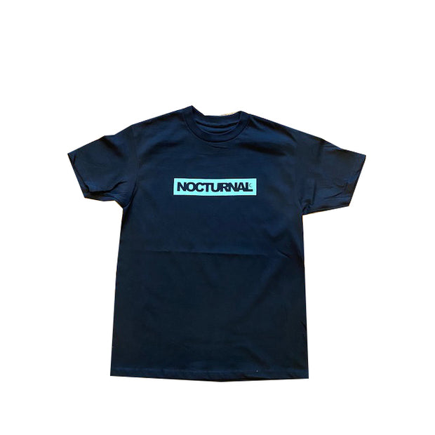 Nocturnal Box Logo Tee ( Black/Green)
