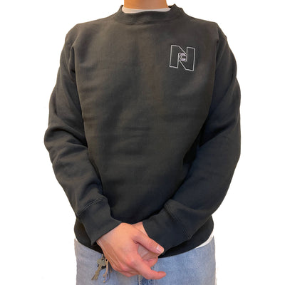 Nocturnal N logo Crewneck (Black)