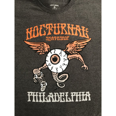 Nocturnal Eyeball Tee ( Grey)