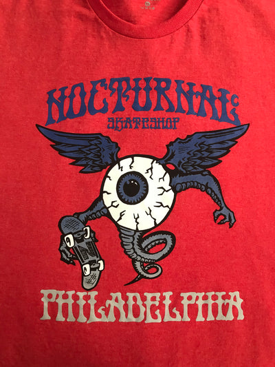 Nocturnal Eyeball Tee ( Red)