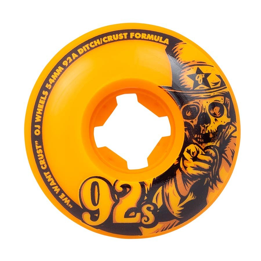 OJ 92s Original Orange Wheels 92a 54mm