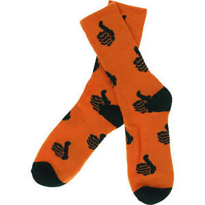 Bro Style Spooky Thumbs Crew Socks (Orange/Black)