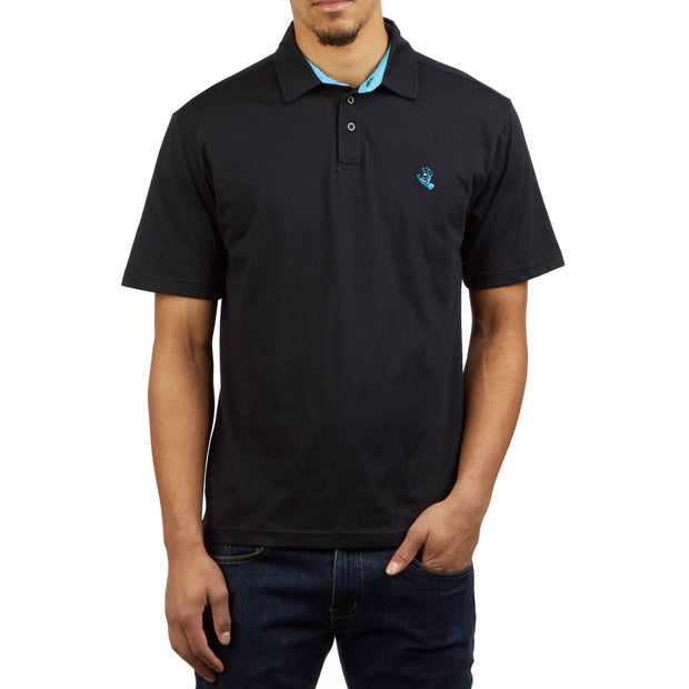 Santa Cruz Screaming Hand Polo (Black)