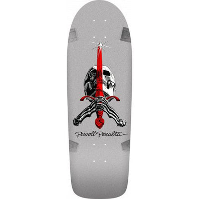 Powell Peralta OG Skull and Sword Rodriguez Silver Deck