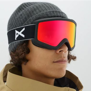 Anon Helix 2 Goggle (Black & Sonar Red)