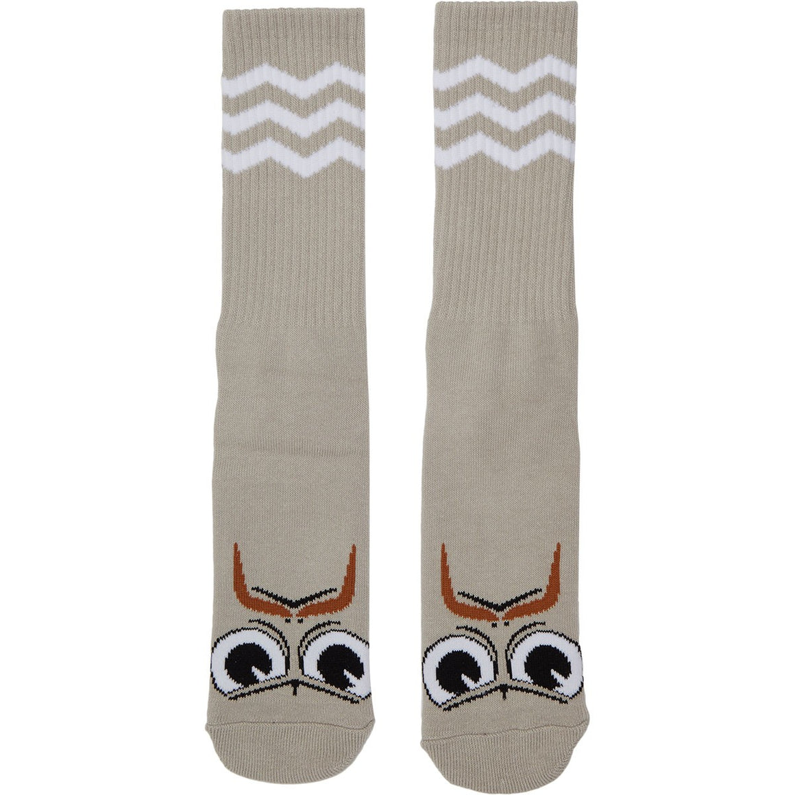 Toy Machine Turtle Boy Stache Crew Socks (Grey)
