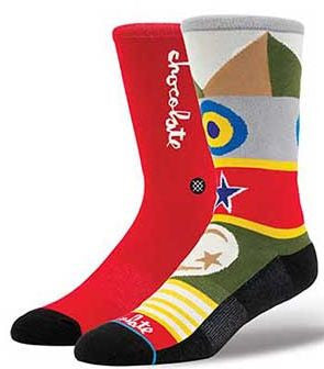 Chocolate Flags Sock (Red)