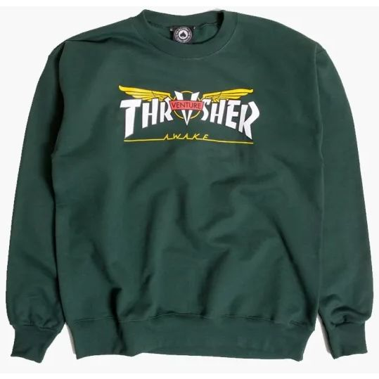 Thrasher x Venture Crewneck Sweater (Forest Green)
