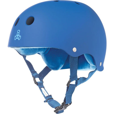 Triple 8 Sweatsaver Helmet (Royal Blue/Rubber)