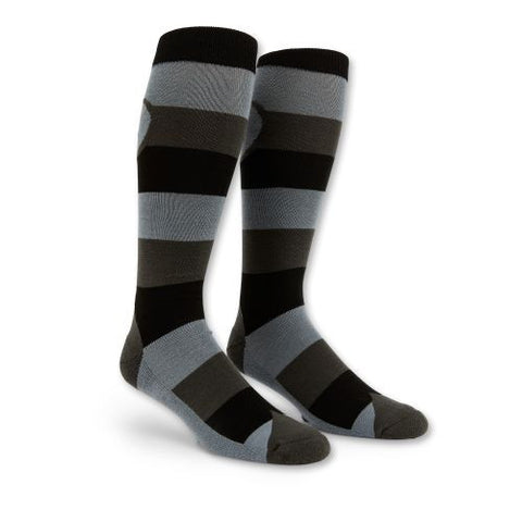 Mod Stripe Sock (Charcoal)