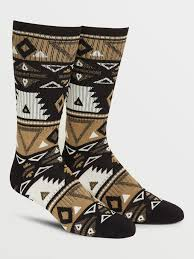 Volcom X Girl Skateboards Crew Socks (Sanddune) O/S