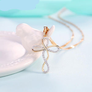Trendy Infinite Crystal Pendant Necklaces for Women