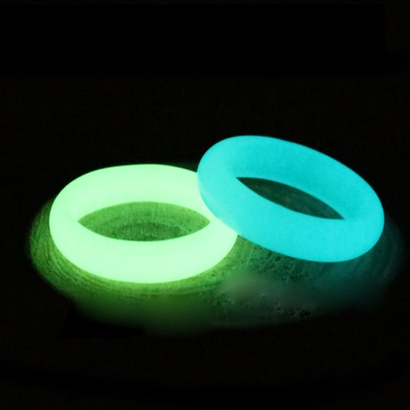 Natural Fluorite luminous Stone Glow in Dark Ring