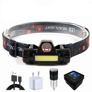 XPE+COB Work Light 2 lighting modes With tail magnet Rechargeable LED Headlamp