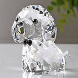 Crystal Lovely Dog Miniature Glass Animal Craft Ornament