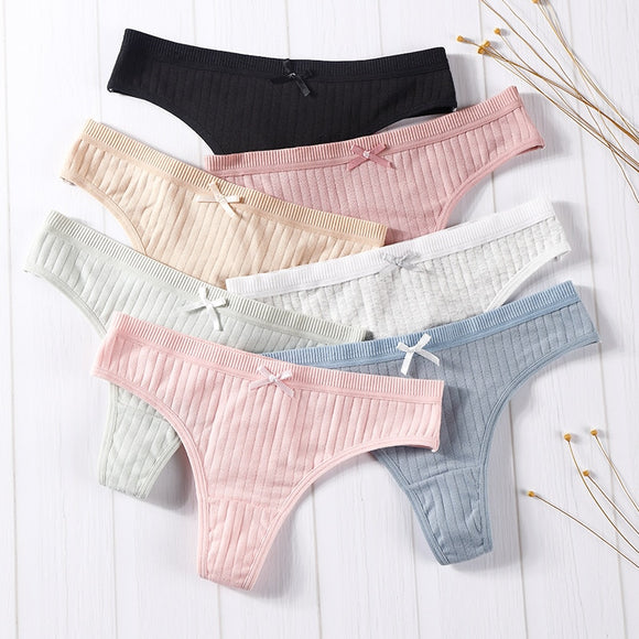 Women's Underwear Fashion Cotton G-string Soft Lingerie Thong panties