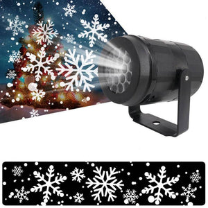 Christmas Snowflake Laser Light Snowfall Projector Moving Snow