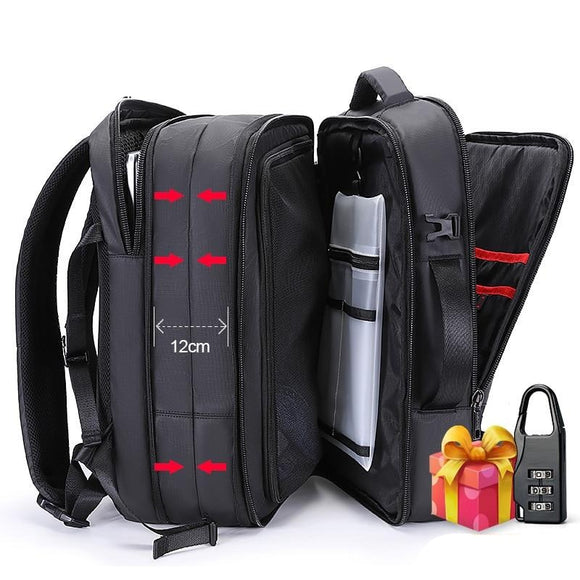 35L 17 inch USB Charging Male Multi-layer High Capacity Travel Backpack bag