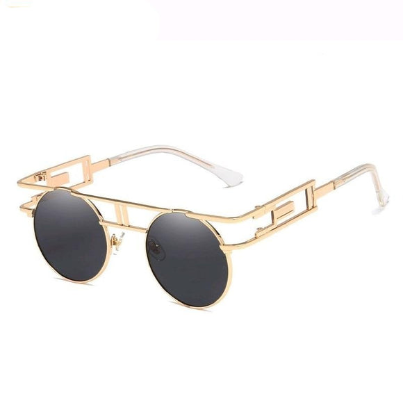 Gothic Steampunk Round Vintage  Men Women Unisex polarized Sunglasses