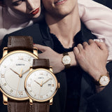 lovers Vintage Quartz Couple  Men women Wrist watch