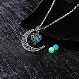 Glow In The Dark Necklace Moon Square Heart Necklaces For Woman