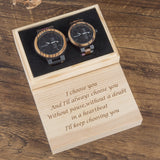 Wood Watch Men Women Quartz Week Date Wood Band Lover Couple Watches