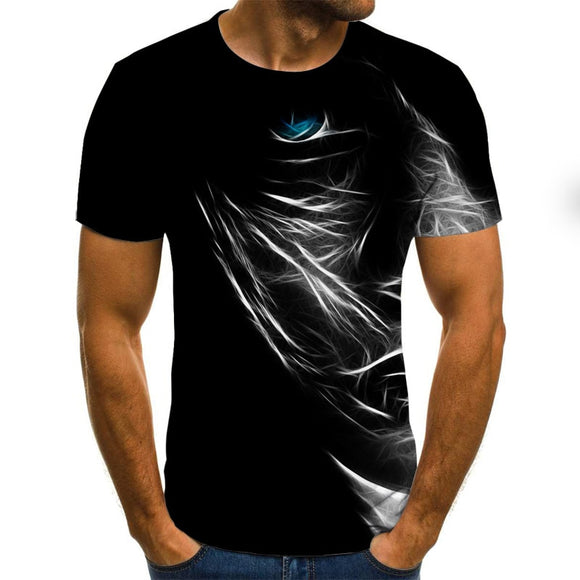 3D printed casual short-sleeved men's T-shirt fashion hip-hop top
