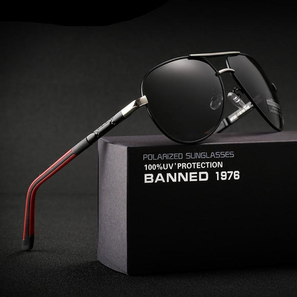 High quality Anti glare Polarized Aluminum  hot Men's Sunglasses