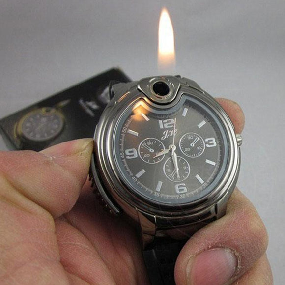 Fashion Men's Quartz Lighter Creative Wrist Watch