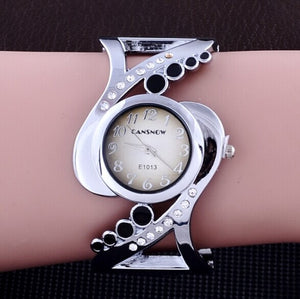 women bangle  quartz crystal  rhinestone fashion female wrist watch