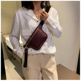 Multicolor messenger chest  clutch female Pu leather  women cross body bag