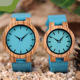 Wooden Timepieces Turquoise Blue Men women Watch Lovers Great Gifts