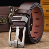 Genuine leather strap luxury pin buckle casual men belt