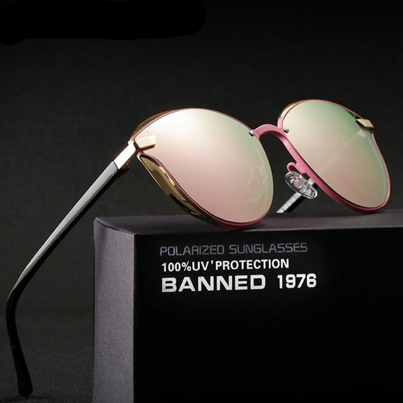 Luxury Women Fashion Round Ladies Vintage Oversized Female sunglasses