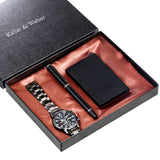 Watch Signature Pen  Card Case Men's Gift Set  for Husband Dad Boyfriend
